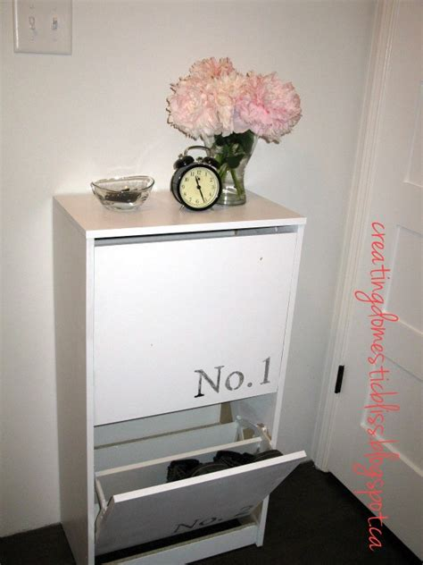 Ikea Bissa Shoe Cabinet White by Creating Domestic Bliss Ikea Bissa Shoe Cabinet Makeover