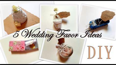 5 Creative Wedding Favor Ideas (part 1) Diy -easy And