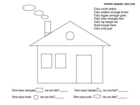 shape house worksheet shapes activities shapes