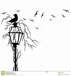 Birds in street wall decal vector illustration stock