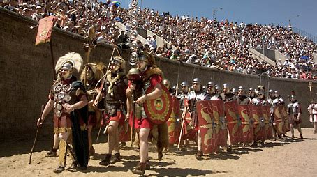 roman festival swords bread  games