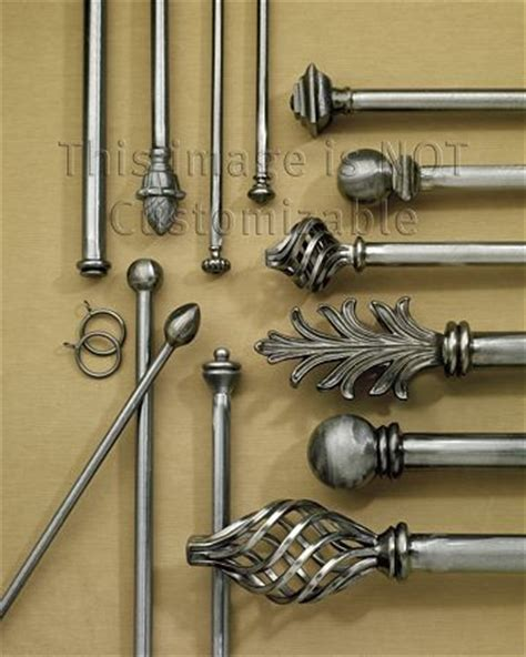 wrought iron hardware traditional curtain rods other