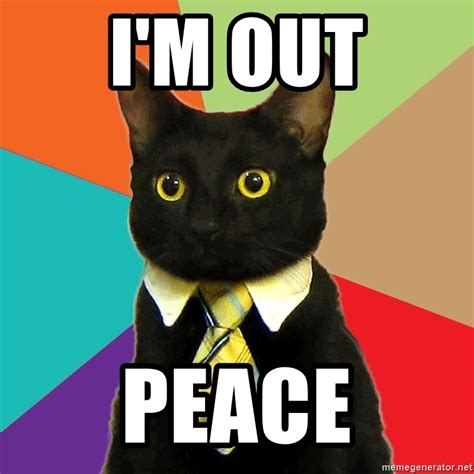 Of Peace Meme - the gallery for gt peace out dog meme