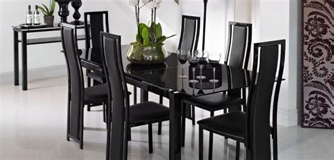 top  black gloss extending dining tables dining room ideas
