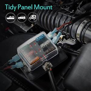 6 Way Led Illuminated Automotive Blade Fuse Holder Box