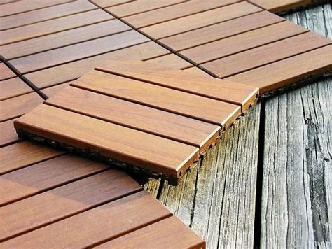 wood deck tiles by design for less modern porch