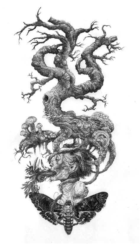 The Tree of Death (pen & ink)   The Art of Trees