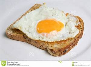 Fried Egg on Toast stock photo. Image of white, grain ...