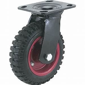 Casters & Tires - Steelex 6 Inch Caster Black Rubber