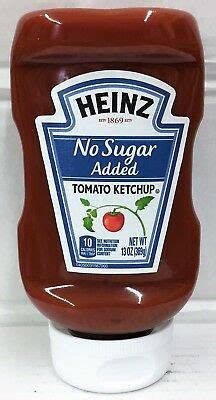 Heinz No Sugar Added Tomato Ketchup 13 oz 13000007993 | eBay