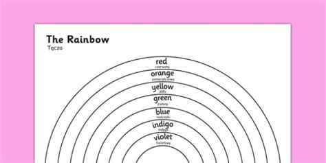 color in translation the rainbow colours colouring sheet translation