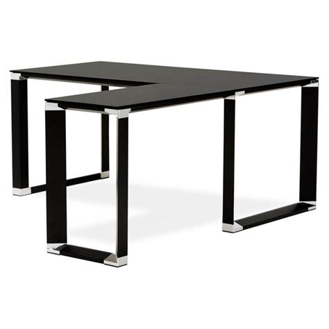 bureau angle en verre bureau d 39 angle design master en verre trempé noir