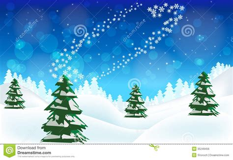 merry christmas winter landscape royalty  stock image