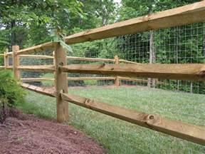 Split Rail Fence with Wire