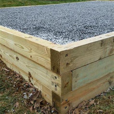 install gravel base  shed makequality