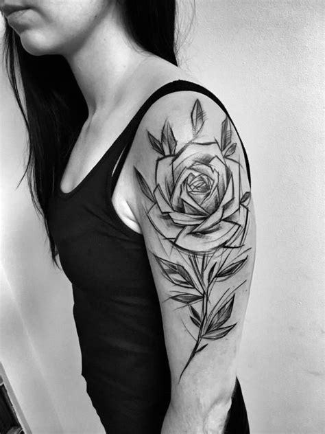 Inez Janiak sketch tattoos | Rose tattoos, Tattoos, Rose