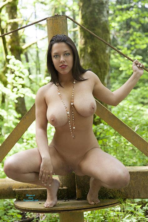Naked Brunette In Green Nature April Voyeur Web Hall Of Fame