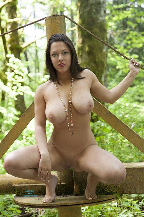 Naked Brunette In Green Nature April Voyeur Web Hall Of Fame