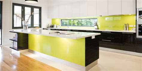 modern green kitchen kitchen renovations instep constructions 4202