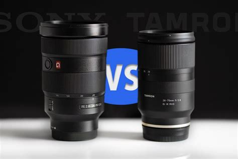 tamron 28 75 f 2 8 vs sony 24 70mm gm lens comparison light and matter