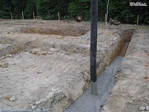 Betonování základů v dešti