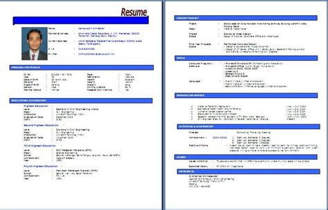 template resume bahasa melayu contoh resume bahasa melayu resume kerja swasta resume kerja kerajaan resume terkini dan