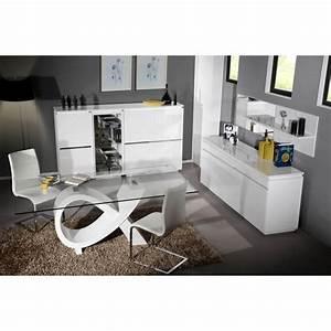 Table De Salle À Manger En Verre : table de salle manger design blanche en verre amelie ~ Dallasstarsshop.com Idées de Décoration