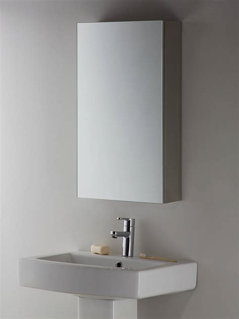 Silver Bathroom Cabinet by Lewis Partners Single Mirrored Bathroom Cabinet