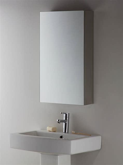 john lewis partners single mirrored bathroom cabinet
