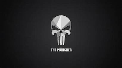 Punisher Wallpapers Material Desktop 4k Pantalla Minimal