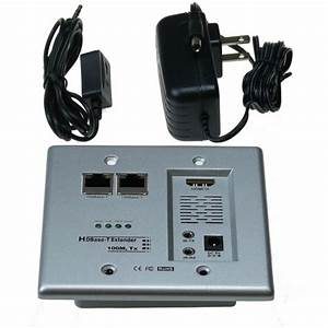 Ntw Hdbaset Wall Plate Extends Hdmi  U0026 Networking  Internet  Connection Ready Over Cat5e  6 Up To
