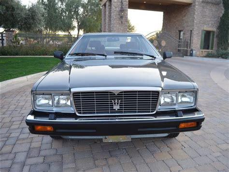 maserati 4 door 1985 maserati quattroporte iii 4 door 28 540 miles grigio