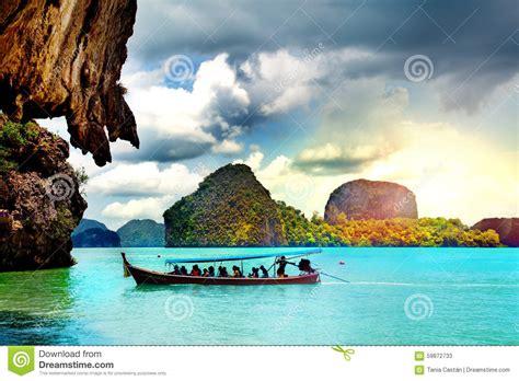 Beautiful Beach Landscape In Thailand Phang Nga Bay