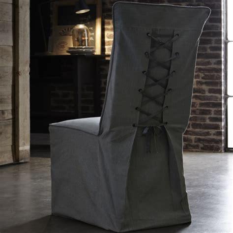 housse de chaise mariage en coton gris clair deco mariage