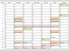 Semester Calendar 2135 Engineering Applications