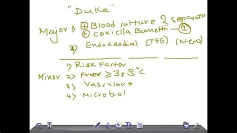 medical video lecture duke criteria  endocarditis