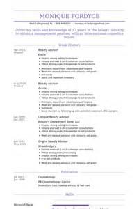 cosmetic sales resume objective cosmetics sales resume
