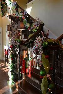 Stair Christmas Garland on Pinterest