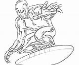 Surfer Coloring Silver Pages Surfing Printable Drawings Superheroes Character Elegant Ages Drawing Popular Getdrawings Coloringhome Getcolorings Doom sketch template