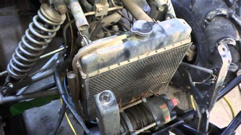 atv thermostat replacement  overheating issues youtube