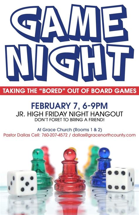 game night flyer board games pinterest night flyers