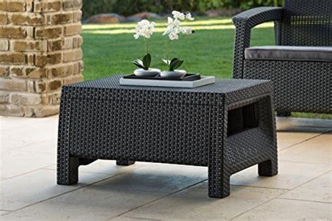 keter corfu rattan outdoor garden furniture coffee table