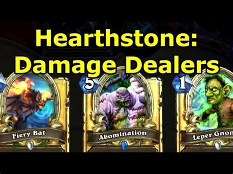 Hearthstone Fun Decks Damage Dealers  Wowcrendor Youtube