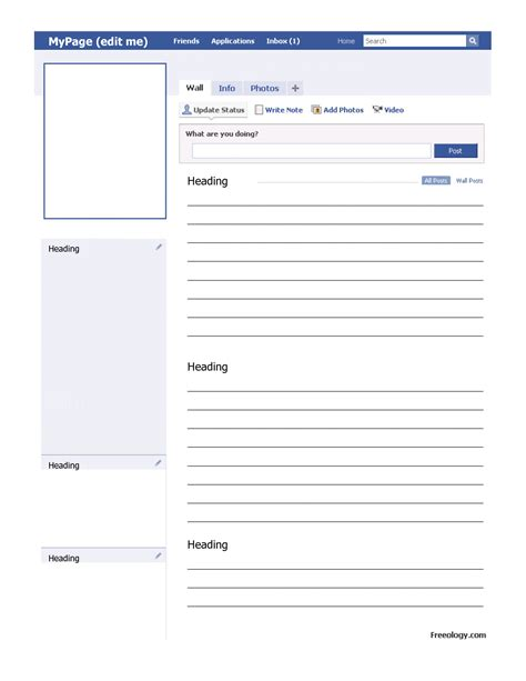 Profile Template 8 Best Images Of Blank Template Fill In