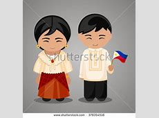 National Dress clipart filipino Pencil and in color
