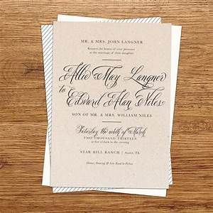 Rustic wedding invitation kraft paper wedding by kxodesign for Wedding invitations at etsy