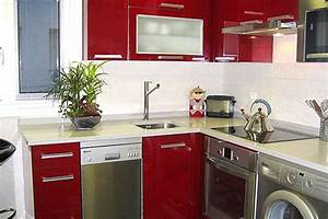 installing the washing machine in a small kitchen With kitchen design with washing machine