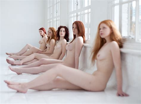 Redheads Group Of Nude Girls Luscious