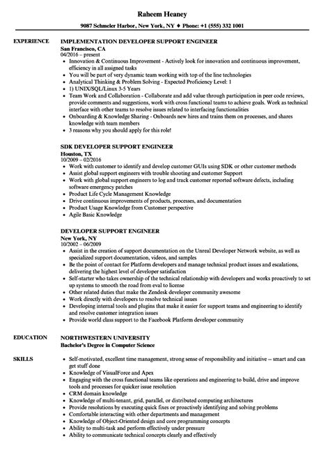 application support engineer sle resume sle resume