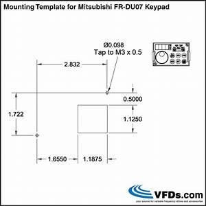 How To Mount A Mitsubishi Vfd Parameter Unit